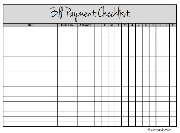Keep track of due dates and never forget a payment again. Free printable!