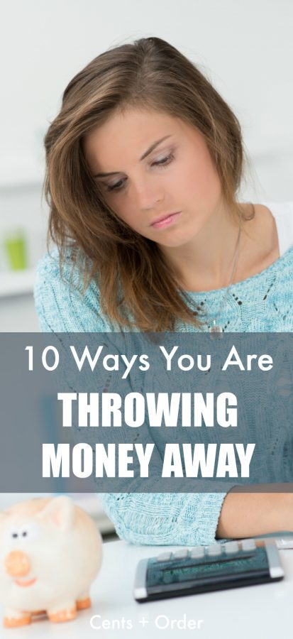 Are you throwing money away every month? Stop wasting money on these ten things. Help your budget by making small changes that will save you money.