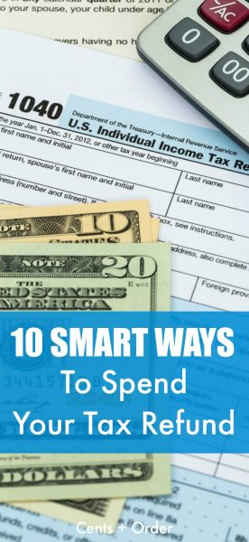 Use your tax refund to get your finances on track! Here's 10 ways to use your tax refund wisely and stop living paycheck to paycheck. Start saving money, pay off debt, build your emergency fund and more!