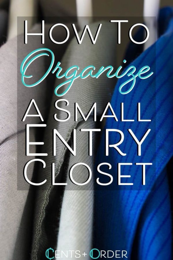 Organize small closet pinterest