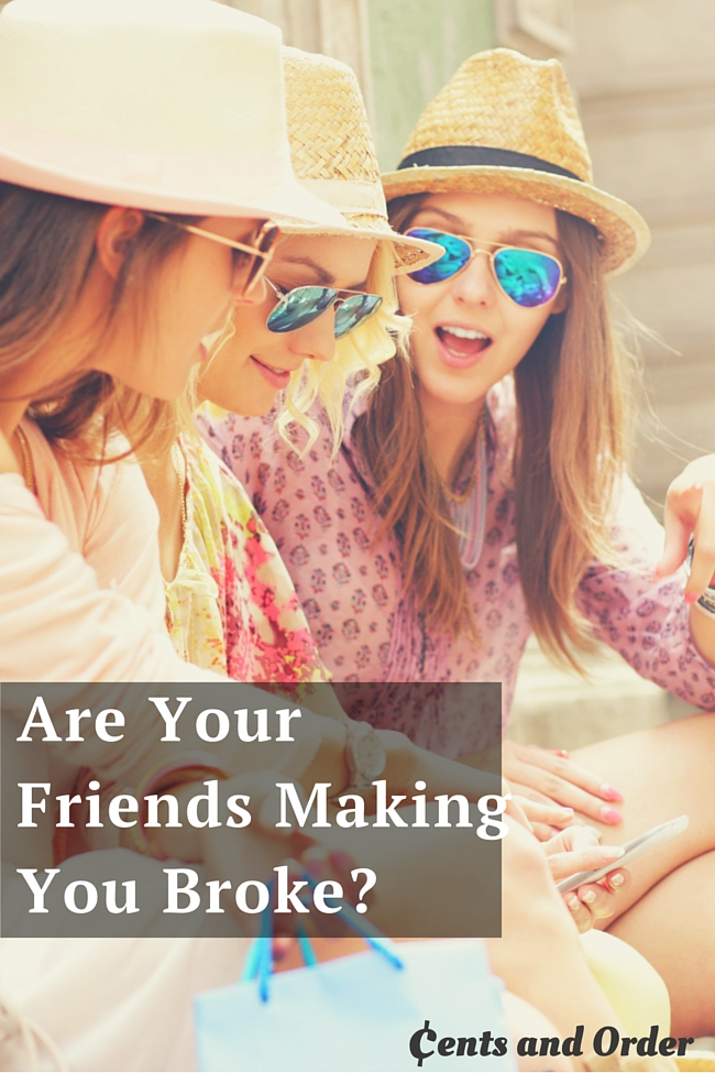 If you are always out of money, maybe your friends are to blame! Are your friends causing you to overspend and making you broke?