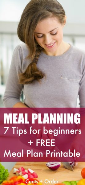 New to meal planning? Save money on food and grocery costs by using a meal plan. Great tips to get any beginner started with meal planning plus a FREE printable meal planner!
