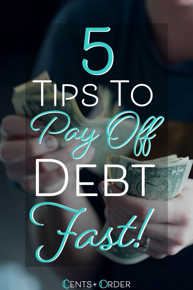 Get rid of your debt as fast as possible!