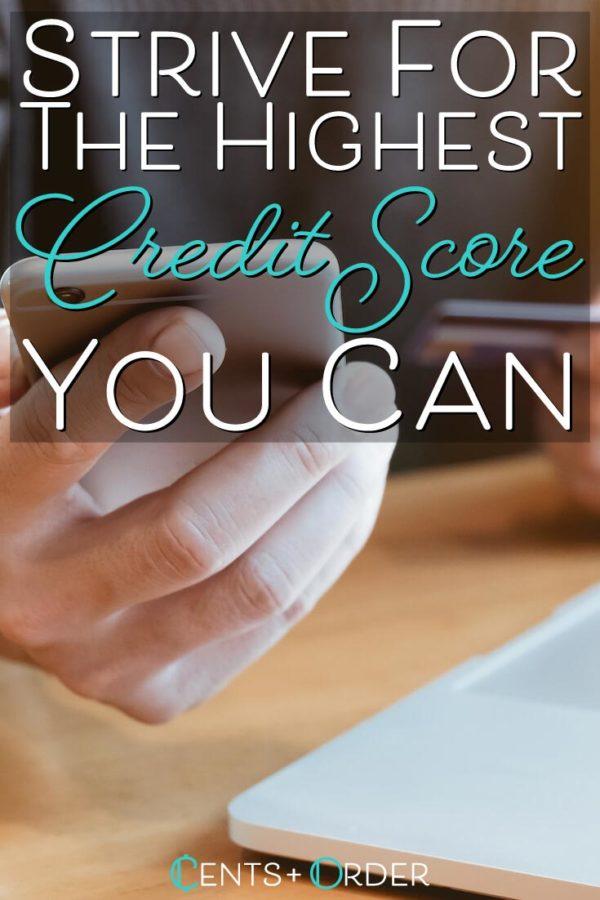 Strive-for-highest-credit-score-Pinterest