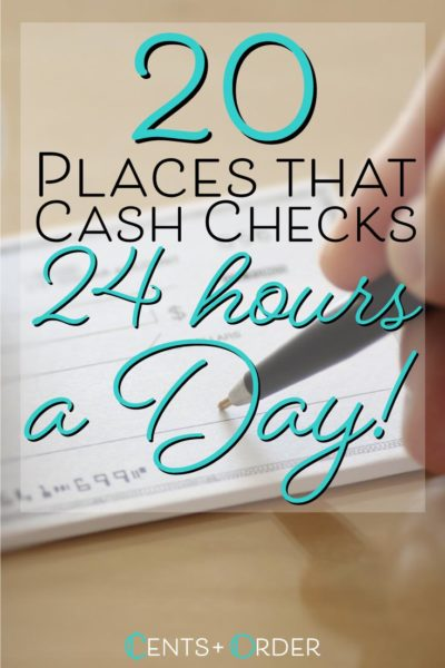 24 Hour Check Cashing Stores (Located Near You)